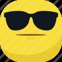 avatar, cool, emoji, emoticon, faceless, glasses, smiley icon