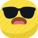 avatar, cool, emoji, emoticon, glasses, sad, smiley icon