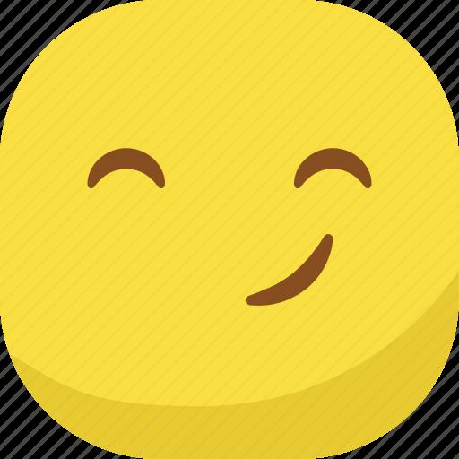 avatar, emoji, emoticon, emotion, happy, smiley, smirk icon