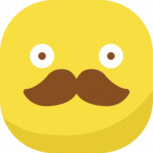 avatar, emoji, emoticon, emotion, mustache, smiley, surprised icon