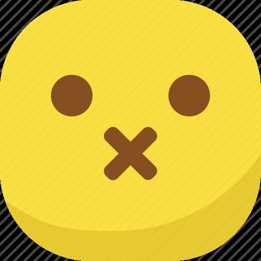 avatar, emoji, emoticon, emotion, silent, smiley icon
