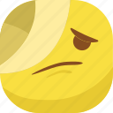 avatar, emoji, emoticon, emotion, hurt, sick, smiley icon