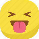 avatar, emoji, emoticon, emotion, laugh, smiley, tongue icon