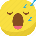avatar, emoji, emoticon, emotion, sleep, sleepy, smiley icon