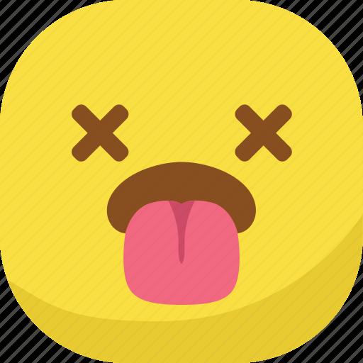 avatar, dead, emoji, emoticon, emotion, smiley, tongue icon