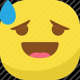avatar, awkward, drop, emoji, emoticon, emotion, smiley icon