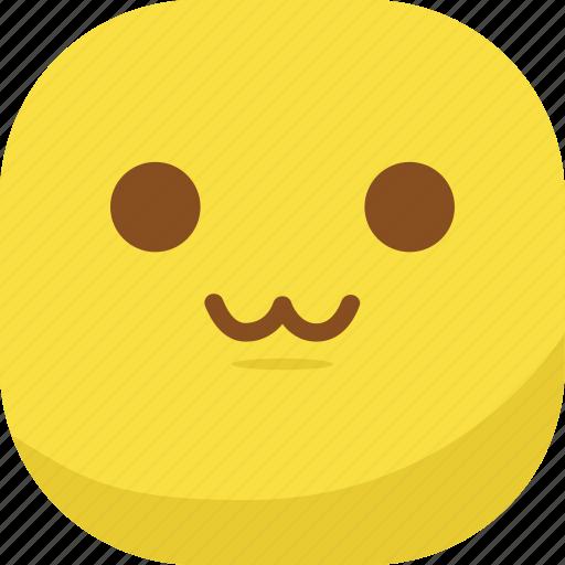 avatar, cat mouth, emoji, emoticon, emotion, smiley, uwu icon