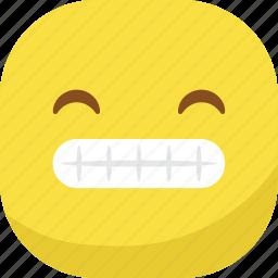 avatar, emoji, emoticon, emotion, laugh, smiley, teeth icon