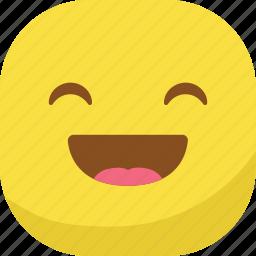 avatar, emoji, emoticon, emotion, happy, laugh, smiley icon