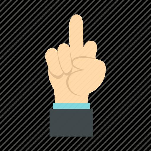 bent, contempt, disdain, finger, gesture, middle, resentment icon