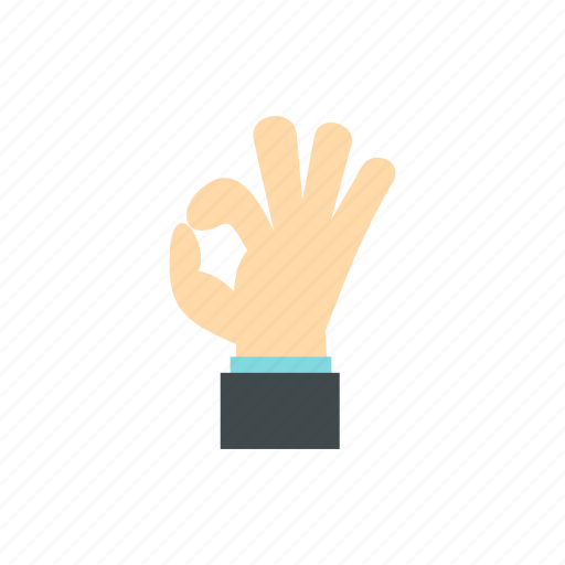 finger, gesture, good, ok, okay, social, success icon