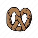 bread, cooking, eat, food, meal, pretzel, sweet icon