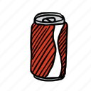 beverage, can, coke, drink, food, glass, soda icon