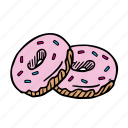 bread, dessert, donut, eat, food, snack, sweet icon