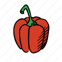 cook, cooking, eat, food, healthy, paprika, vegetable icon