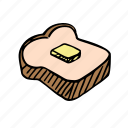 bread, cooking, eat, food, meal, slice of bread icon