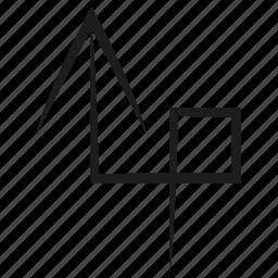 arrow, curve, diretion, scribble, sketch, up, way icon
