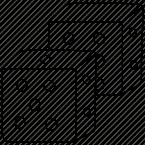 dice, pieces icon