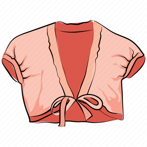 crop top, garments, shrug, shrug jacket, women clothing, women top icon