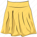 clothing, fashion, garments, long skirt, skater skirt, skirt, women outfit icon