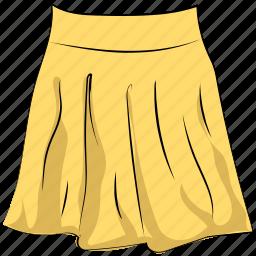 clothing, fashion, garments, long skirt, skater skirt, skirt, women outfit icon
