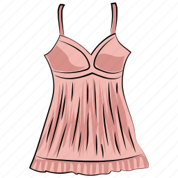 clothes, clothing, female garment, nightdress, strap dress, sundress, swing dress icon