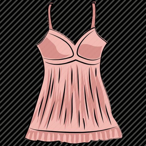 clothes, clothing, female garment, nightdress, strap dress, sundress, swing dress icon