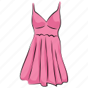 dress, frock, party dress, straps dress, swing dress, woman clothing, women dress icon