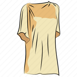 dress, ladies dress, ladies shirt, long shirt, tunic dress, women clothing icon