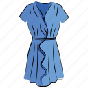 clothing, fashion, flare dress, frock, outfit, robe, swing dress, woman dress icon