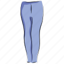 clothes, clothing, fashion, legging, pants, trousers, yoga pants icon