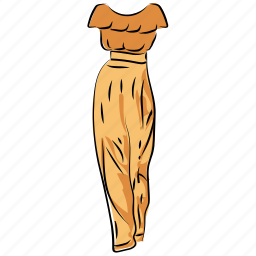 fashion, gown, maxi dress, party dress, party gown, woman dress icon