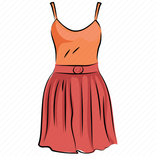 day dress, frock, summer clothing, sundress, tea dress, woman dress icon