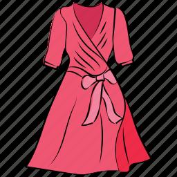 frock, skater dress, summer dress, swing dress, woman clothing, woman dress icon