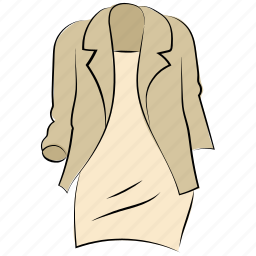 blazer, dress, formal wear, going out outfit, jacket, women dress icon