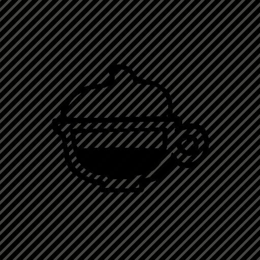 cafe, cappuccino, coffee, cup, doodle, latte, menu icon
