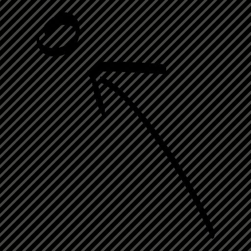 aim, arrow, corrections, direction, drawn, hand, target icon