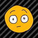 drawn, emoji, face, hand, messenger, shocked, surprised icon
