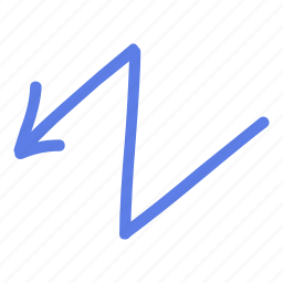 arrow, circle, delete, left, line, marker, smudge icon