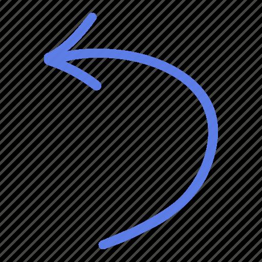 arrow, circle, delete, left, line, marker, smudge icon