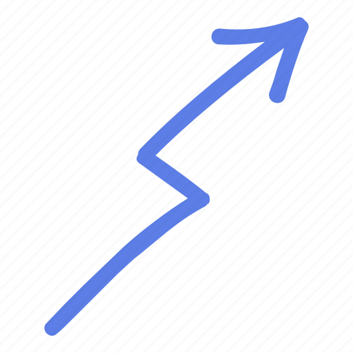 arrow, circle, line, marker, right, smudge, up icon