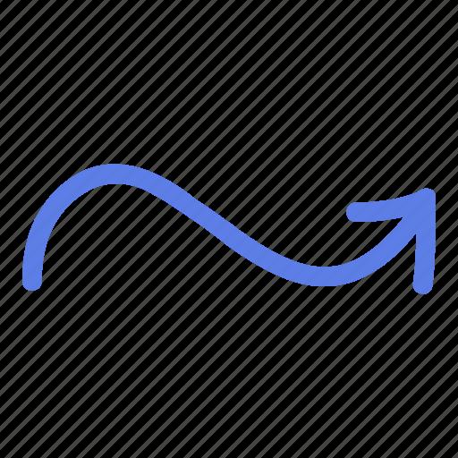 arrow, circle, delete, line, marker, right, smudge icon