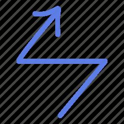 arrow, circle, delete, line, marker, smudge, up icon