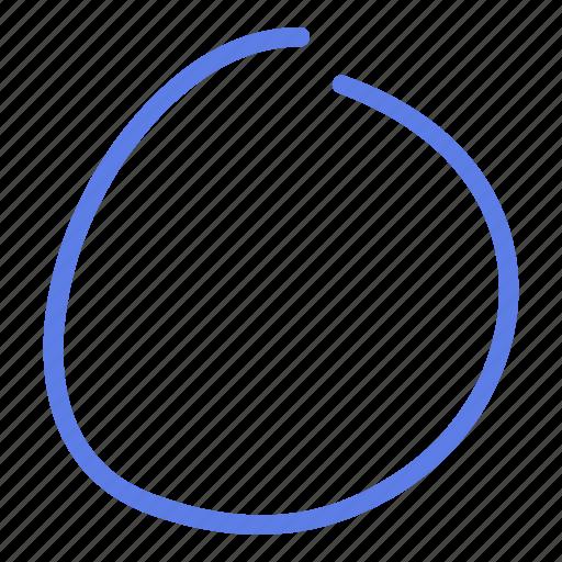 arrow, circle, delete, line, marker, refresh, smudge icon