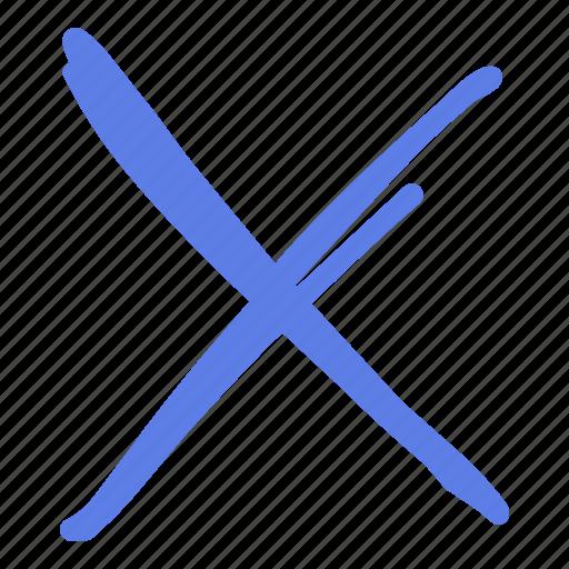 Arrow, circle, delete, line, marker, smudge icon - Download on Iconfinder