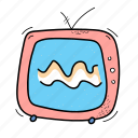 fun, multimedia, retro, tv, video icon