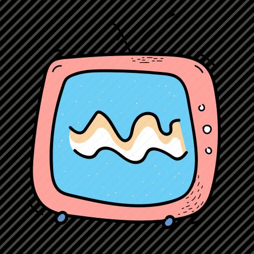 fun, multimedia, retro, tv, video icon
