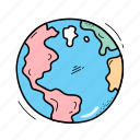 earth, global, planet, space icon
