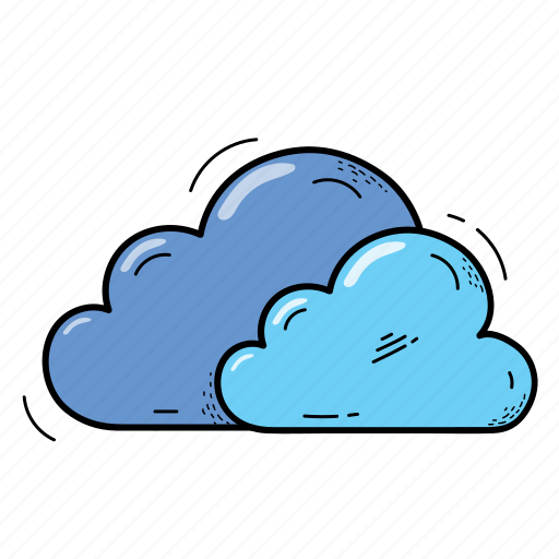 clouds, data, storage, weather icon