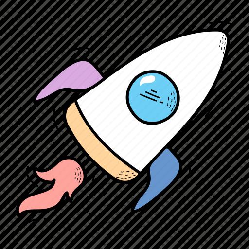 fast, retro, rocket, spacesheep, vintage icon